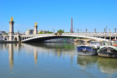 Paris. Pont Alexandre III — Stock Photo