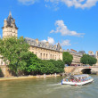 Stock Photo: Paris. River Seine