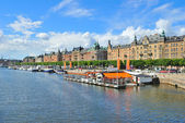 Stockholm. Beautiful quay in Ostermalm — Stock Photo