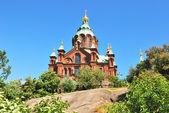 Helsinki. Uspenski Orthodox Cathedral — Stock Photo