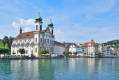 Lucerne. Jesuit Church — Stock Photo