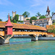 Lucerne, Switzerland. Mill bridge — Stock Photo
