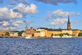 Estocolmo. isla riddarholmen al atardecer — Foto de Stock