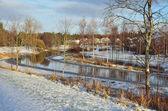 Finland, Forssa. River Lojmijoki — Stockfoto