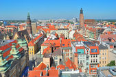 Top-view of Wroclaw, Polish Republic — Stock Photo