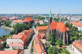 Top-view of the island Tumski in Wroclaw — Stock Photo