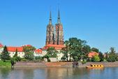 Wroclaw. View of the island Tumski — Stock Photo