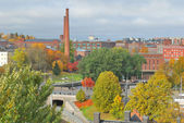 Tampere, Finland. Top-view of the city — Stock Photo