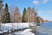 Early spring in Imatra, Finland — Стоковое фото