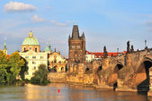 Prague. Old Town at sunset  — Stock Photo