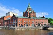 Helsinki, Quay Kanavaranta — Stock Photo
