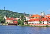 Prague. Vltava river embankment   — Stock Photo