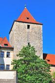 Praga. torre negra — Foto de Stock
