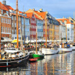 Copenhagen, Nyhavn harbor — Stock Photo