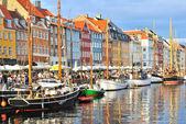 Copenhague, puerto de nyhavn — Foto de Stock