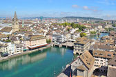 Top-view of Zurich — Stock Photo