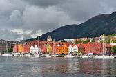 Bergen, noorwegen. kade bryggen — Foto de Stock