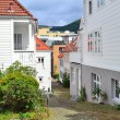 Narrow street of Bergen, Norway — Stock Photo