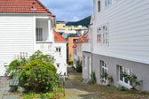 Narrow street of Bergen, Norway — Stock Photo