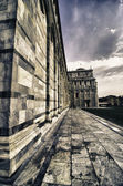 Facade of the Cathedral in Miracle Square, Pisa — Foto de Stock