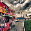 Bus Tour in Rome — Stock Photo