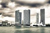 Miami Skyscrapers over a Cloudy Sky — Stock Photo