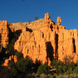 Stock Photo: Great spires carved away by erosion in Bryce Canyon National Par