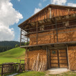 Typical Wooden Home of Dolomites - Italian Mountains — Stock Photo #12481176