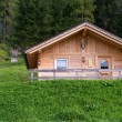 Typical Wooden Home of Dolomites - Italian Mountains — Stock Photo #12481276