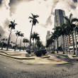 Streets and Buildings in Miami — Stock Photo