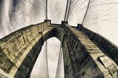 Brooklyn Bridge Exterior Detail, New York — Stock Photo