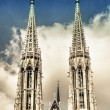 Votive Church twin towers in Vienna — Stock Photo