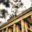 Quadriga sculpture on top of Berlin Brandenburg Gate — Stock Photo #12631626