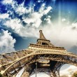 Stock Photo: Beautiful photo of Eiffel tower in Paris with gorgeous sky c