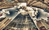 Gebäude von new york, manhattan wolkenkratzer — Stockfoto