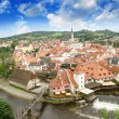 Royalty-Free Stock Photo: Cesky Krumlov aerial view with medievalo architecture and Vltava