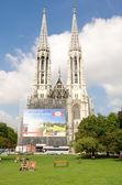 Vienna - Famous Votivkirche - Votive Church — Stock Photo