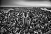 New York City Skyline by Night — Stock Photo