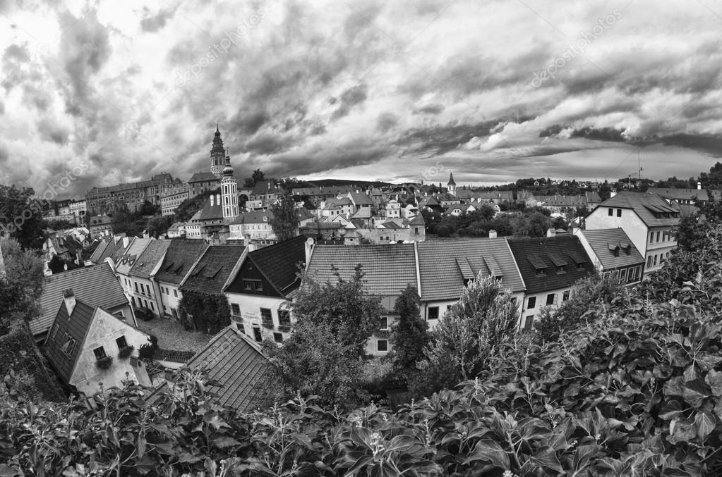 Cesky Krumlov Medieval Architecture and its Vltava River, Czech Republic — Stock Photo #12808803