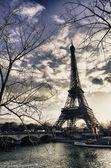 париж цвета в зимний период — Стоковое фото