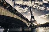 Paris färger på vintern — Stockfoto