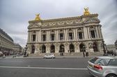 Facade of National musical academy and Paris Opera, France. — Stock Photo