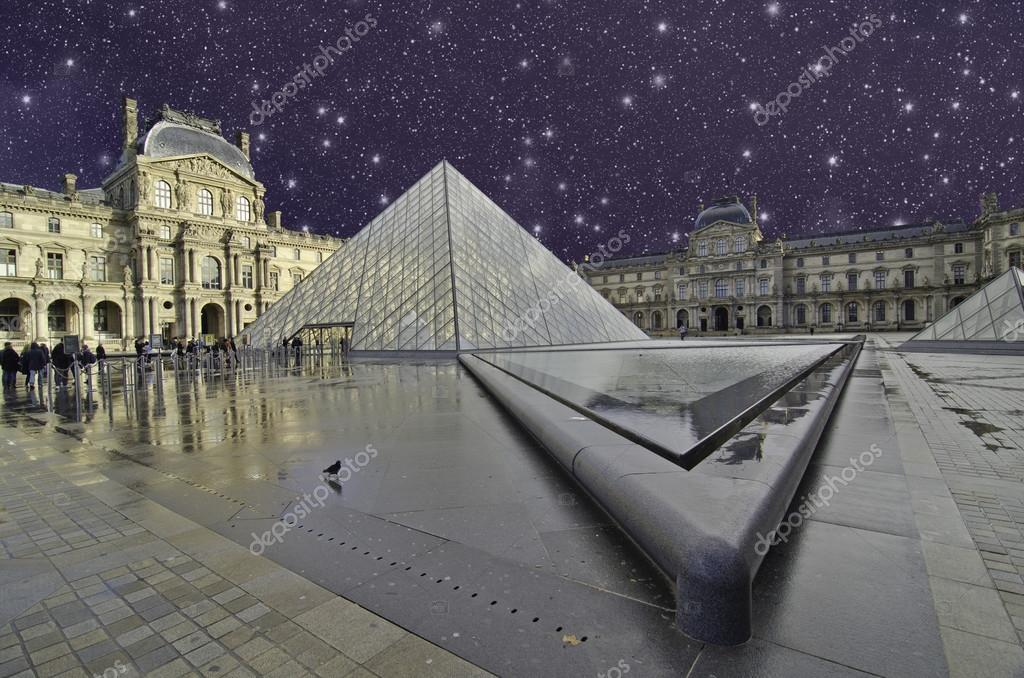 Starry Night over Paris, France  Stock Photo #13182275