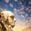 Mount Rushmore National Memorial with dramatic sky - USA — Stock fotografie