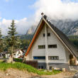 Typical Wooden Home of Dolomites - Italian Mountains — Stock Photo #13477964