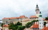Tipiche case medievali di cesky krumlov, Repubblica Ceca — Foto Stock