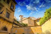 Mittelalterliche häuser in florenz — Stockfoto