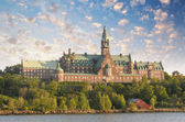 Ancient Architecture and vegetation of Stockholm - Sweden — Stock Photo