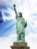 Front view of the Statue of Liberty in New York City. — Stock Photo