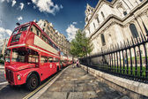 Red Double Decker Bus, symbol of London — Stock Photo